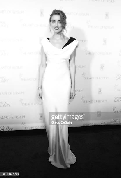Actress Amber Heard arrives at The Art Of Elysium's 8th Annual Heaven Gala at Hangar 8 on January 10 2015 in Santa Monica California
