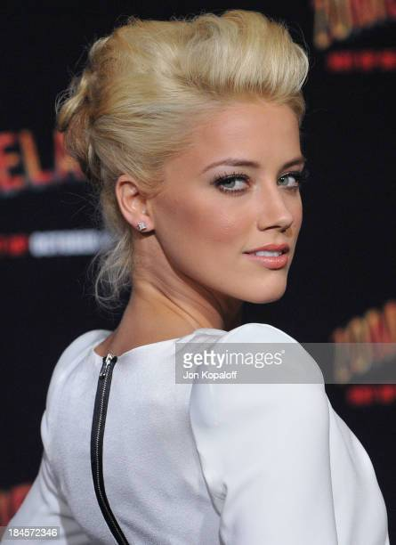 Actress Amber Heard arrives at the Los Angeles Premiere 'Zombieland' at Grauman's Chinese Theatre on September 23 2009 in Hollywood California