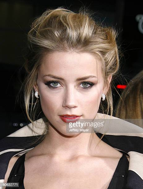 Actress Amber Heard arrives at the Universal Pictures' World Premiere of Forgetting Sarah Marshall on April 10 2008 at Grauman's Chinese Theater in...