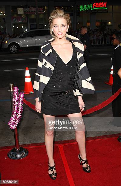 Actress Amber Heard arrives at Universal Pictures' World Premiere of Forgetting Sarah Marshall on April 10 2008 at Grauman's Chinese Theater in...