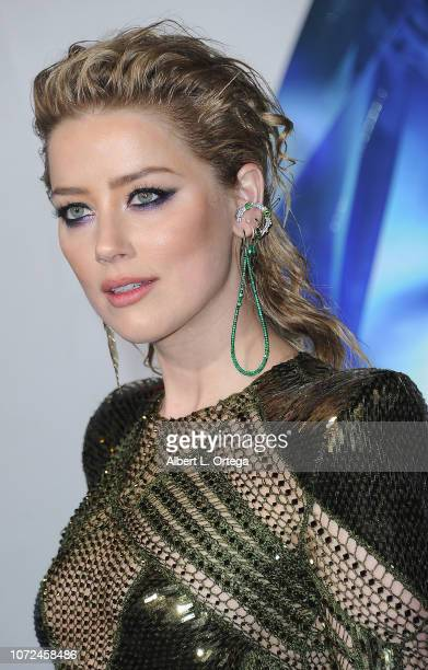 """Actress Amber Heard arrives for the Premiere Of Warner Bros. Pictures' """"Aquaman"""" held at TCL Chinese Theatre on December 12, 2018 in Hollywood,..."""