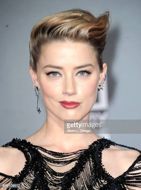 """Actress Amber Heard arrives for the Premiere Of Warner Bros. Pictures' """"Justice League"""" held at Dolby Theatre on November 13, 2017 in Hollywood,..."""