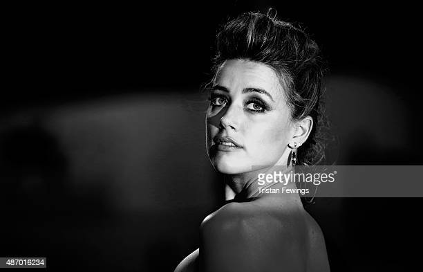 Actress Amber Heard attends a premiere for 'The Danish Girl' during the 72nd Venice Film Festival at on September 5 2015 in Venice Italy