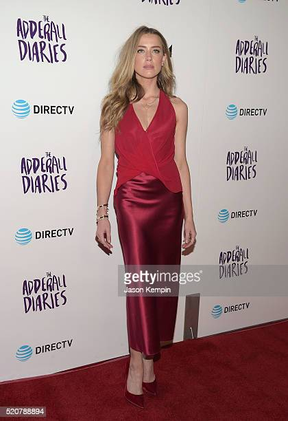 Actress Amber Heard attends A24/DIRECTV's The Adderall Diaires Premiere at ArcLight Hollywood on April 12 2016 in Hollywood California