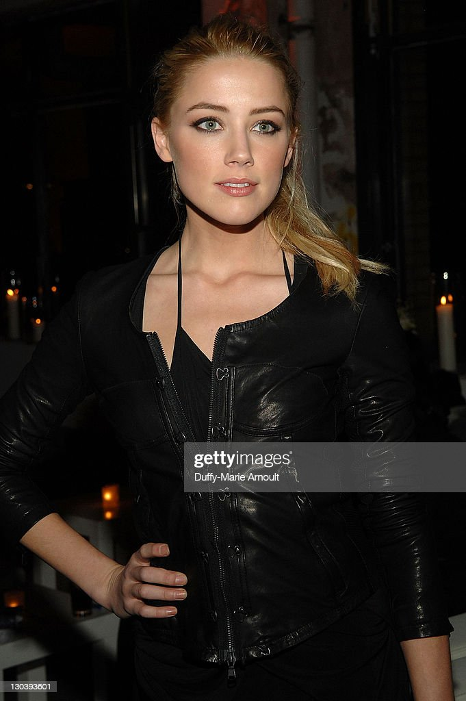 Actress Amber Heard attends Diesel Black Gold Fall 2010 cocktail reception during Mercedes-Benz Fashion Week on February 16, 2010 in New York City.