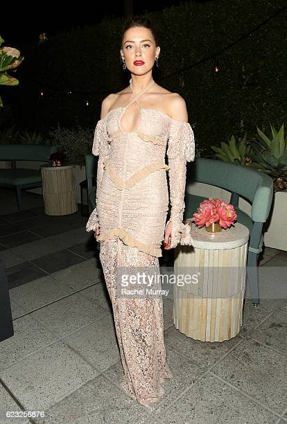 Actress Amber Heard attends Glamour Women of the Year 2016 Dinner at Paley on November 14 2016 in Hollywood California