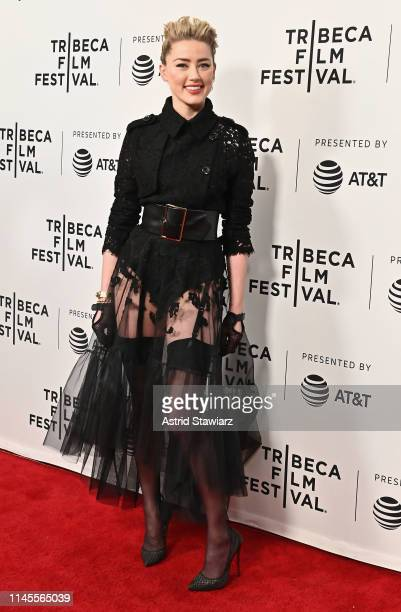 """Actress Amber Heard attends """"Gully"""" screening at 2019 Tribeca Film Festival at SVA Theater on April 27, 2019 in New York City."""
