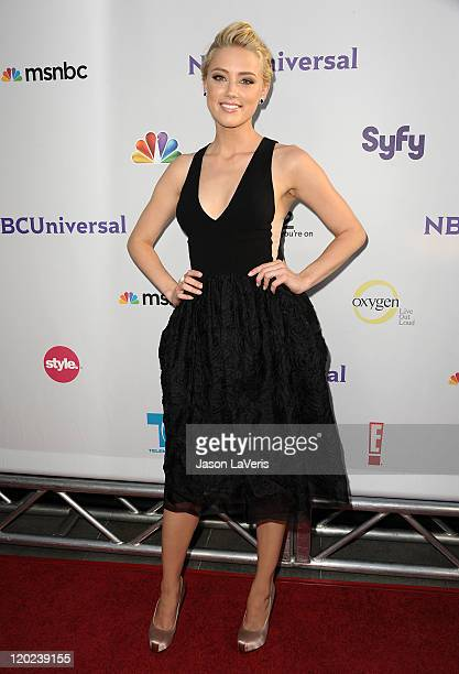 Actress Amber Heard attends NBC's 2011 TCA summer press tour at The Bazaar at the SLS Hotel on August 1 2011 in Los Angeles California