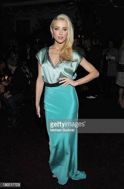Actress Amber Heard attends the 2011 Glamour Reel Moments premiere after party presented by Clarisonic held at the Chateau Marmont on October 24 2011...