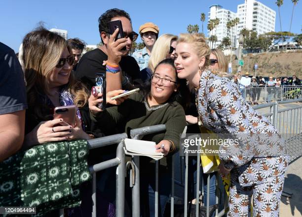 Actress Amber Heard attends the 2020 Film Independent Spirit Awards on February 08 2020 in Santa Monica California