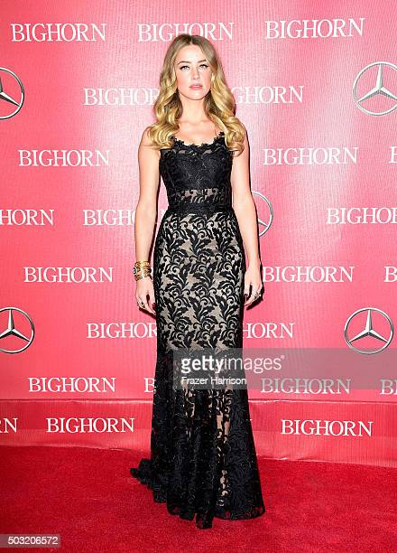 Actress Amber Heard attends the 27th Annual Palm Springs International Film Festival Awards Gala at Palm Springs Convention Center on January 2 2016...