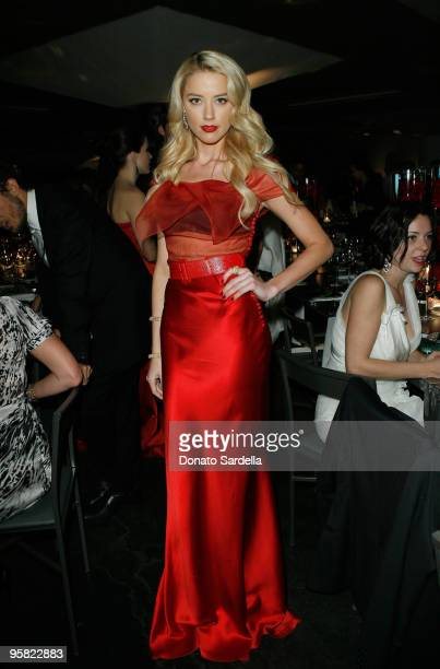 """Actress Amber Heard attends The Art of Elysium's 3rd Annual Black Tie Charity Gala """"Heaven"""" on January 16, 2010 in Beverly Hills, California."""