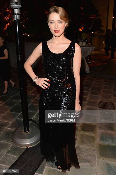 Actress Amber Heard attends The Art of Elysium's 7th Annual HEAVEN Gala presented by Mercedes-Benz at Skirball Cultural Center on January 11, 2014 in...