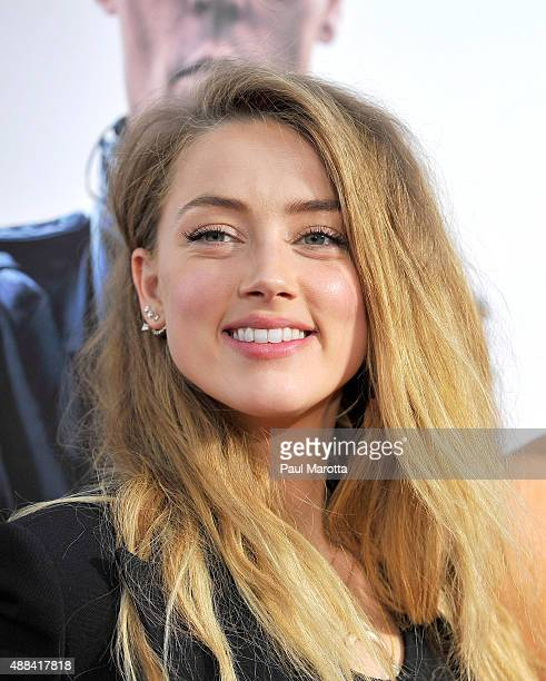Actress Amber Heard attends the 'Black Mass' Boston special screening at the Coolidge Corner Theatre on September 15 2015 in Boston Massachusetts