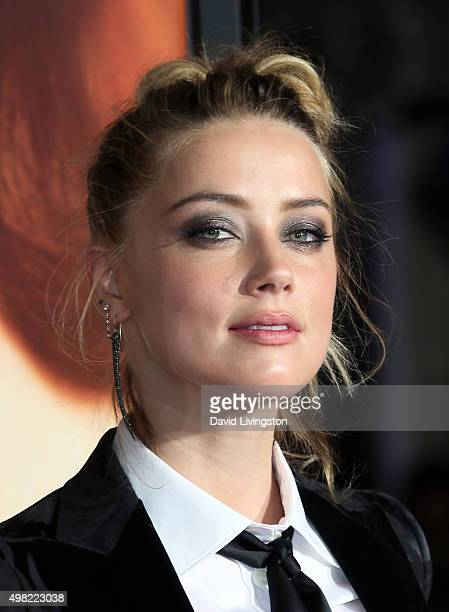 Actress Amber Heard attends the premiere of Focus Features' The Danish Girl at the Regency Village Theatre on November 21 2015 in Westwood California