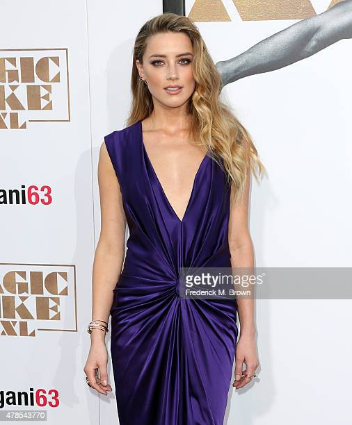 Actress Amber Heard attends the premiere of Warner Bros Pictures' Magic Mike XXL at TCL Chinese Theatre IMAX on June 25 2015 in Hollywood California