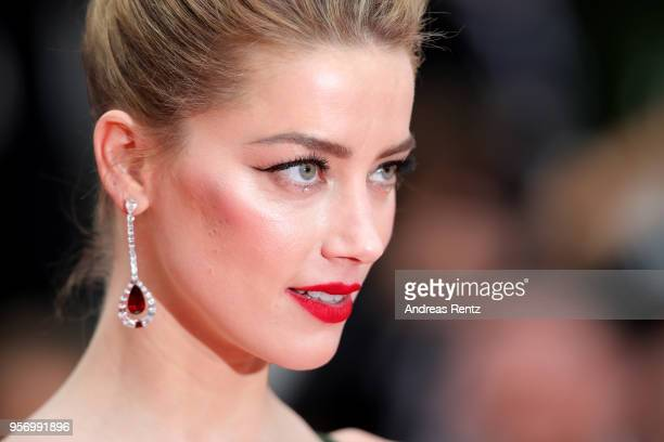 Actress Amber Heard attends the screening of Sorry Angel during the 71st annual Cannes Film Festival at Palais des Festivals on May 10 2018 in Cannes...