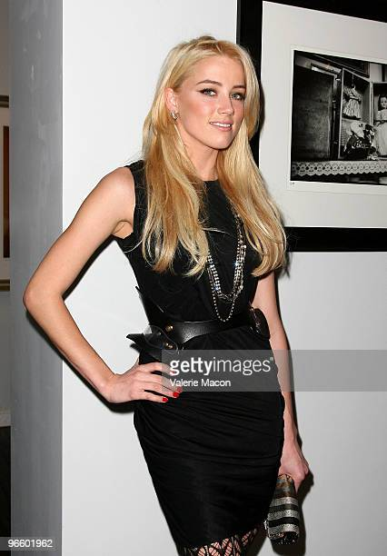 Actress Amber Heard attends The Tasya Van Ree Art Exhibit hosted by Amber Heard on February 11 2010 in Beverly Hills California