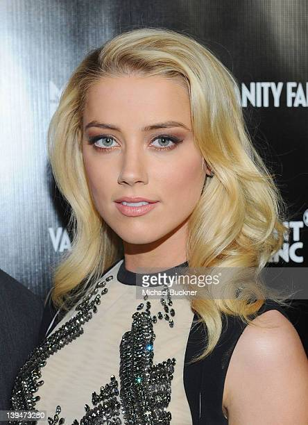 Actress Amber Heard attends the Vanity Fair Montblanc party celebrating The Collection Princesse Grace de Monaco held at Hotel BelAir Los Angeles on...