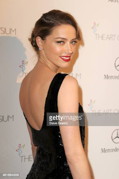 Actress Amber Heardarrives at The Art of Elysium's 7th Annual HEAVEN Gala presented by Mercedes-Benz at Skirball Cultural Center on January 11, 2014...