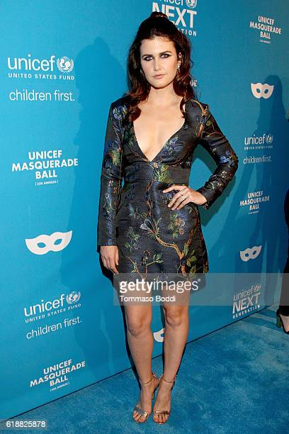 Actress Amber Hodgkiss at the fourth annual UNICEF Next Generation Masquerade Ball on October 27 2016 in Los Angeles California