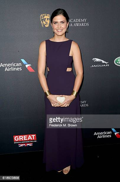 Actress Amber Hodgkiss attends the 2016 AMD British Academy Britannia Awards presented by Jaguar Land Rover and American Airlines at The Beverly...