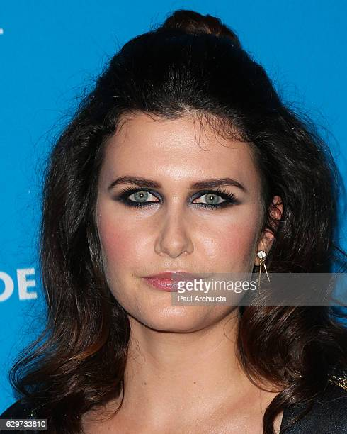 Actress Amber Hodgkiss attends the 4th annual UNICEF Masquerade Ball at Clifton's Cafeteria on October 27 2016 in Los Angeles California
