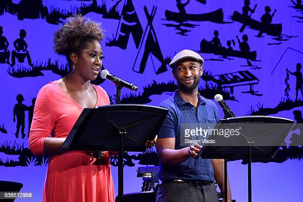 Actress Amber Iman and Actor Donald Webber Jr perform onstage during SeriousFun Children's Network 2016 NYC Gala Show on June 6 2016 in New York City