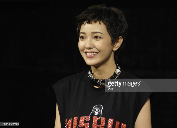 Actress Amber Kuo attends the fans meeting of film 'The One' on June 27 2017 in Wuhan Hubei Province of China