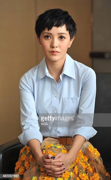 Actress Amber Kuo attends the premiere of James Yuen's film 'Paris Holiday' on July 26 2015 in Beijing China