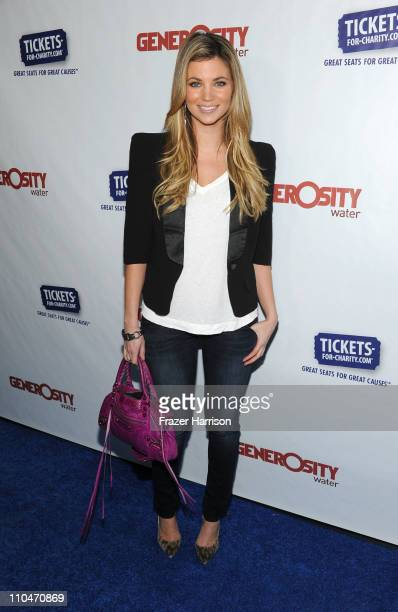 Actress Amber Lancaster arrives at Generosity Water's 3rd Annual 'Night Of Generosity' hosted by E personalities Jason Kennedy and Giuliana Rancic at...
