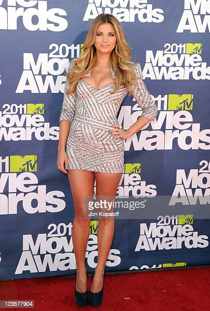 Actress Amber Lancaster arrives at the 2011 MTV Movie Awards at Gibson Amphitheatre on June 5 2011 in Universal City California