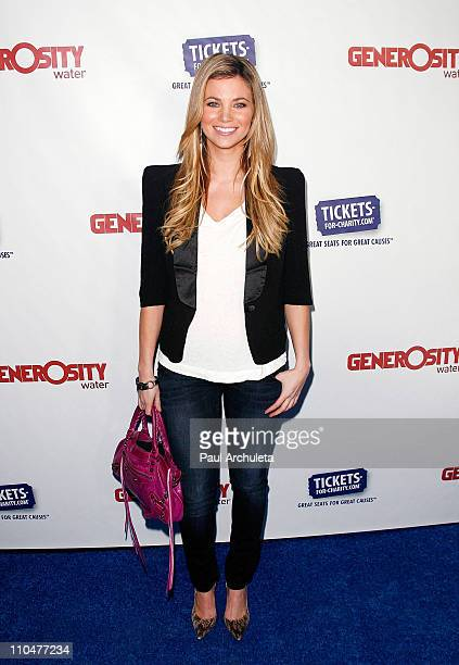 Actress Amber Lancaster arrives at the Generosity Water's 3rd annual 'Night Of Generosity' benefit on March 18 2011 in Beverly Hills California