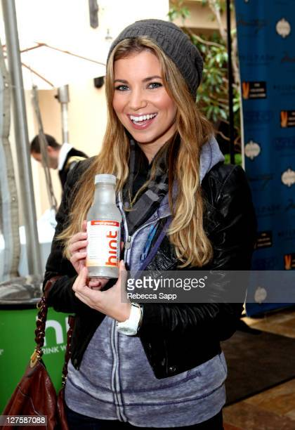 Actress Amber Lancaster attends Kari Feinstein's Academy Awards Style Lounge at Montage Beverly Hills on February 25 2011 in Beverly Hills California