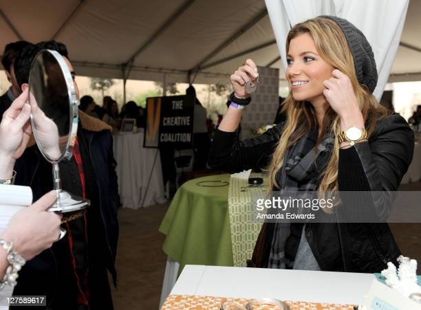 Actress Amber Lancaster attends Silpada at Kari Feinstein's Academy Awards Style Lounge at Montage Beverly Hills on February 25 2011 in Beverly Hills...