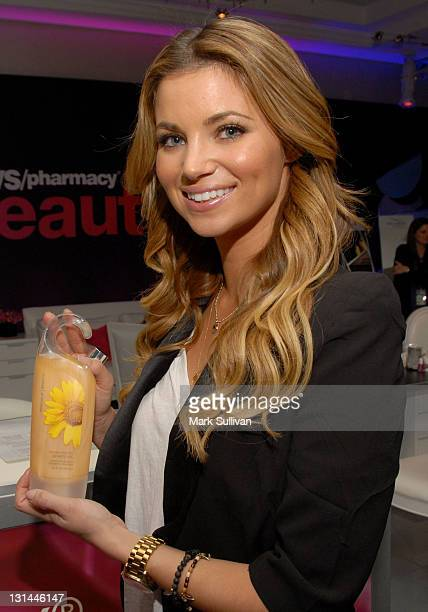 Actress Amber Lancaster attends the CVS Pharmacy Beauty Club at the Access Hollywood 'Stuff You Must' Lounge produced by On 3 Productions at the...
