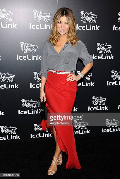 Actress Amber Lancaster attends the IceLink flagship boutique grand opening at Fred Segal Melrose on January 11 2012 in Los Angeles California