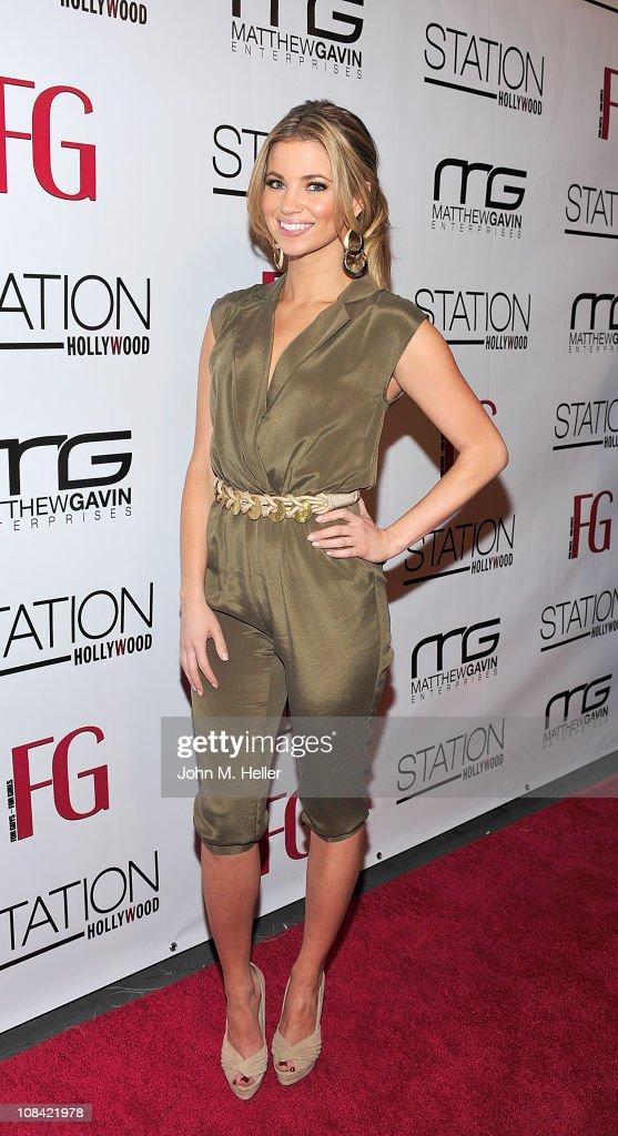 Jessica Hall Hosts The Launch Of February's FG Magazine : News Photo