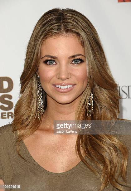 Actress Amber Lancaster attends the MTV series premiere for 'The Hard Times Of RJ Berger' and 'Warren The Ape' at Trousdale on June 7 2010 in West...