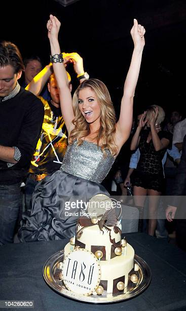Actress Amber Lancaster celebrates her birthday at the Tabu Ultra Lounge at the MGM Grand Hotel/Casino September 18 2010 in Las Vegas Nevada...