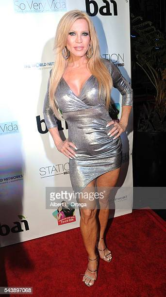 Actress Amber Lynn arrives for the Launch Party For So Very Vida Blog held at Station Hollywood at W Hollywood Hotel on June 29 2016 in Hollywood...