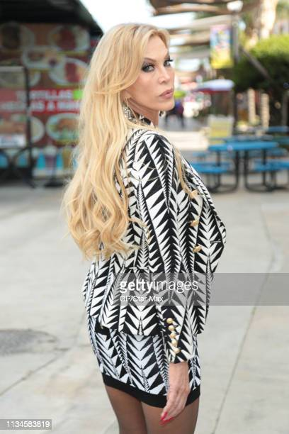 Actress Amber Lynn is seen on April 02 2019 in Los Angeles California