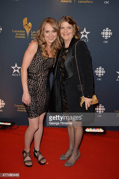 Actress Amber Marshall and Suzan Ayscough arrive at the Canadian Screen AwardsÊat Sony Centre for the Performing Arts on March 9 2014 in Toronto...