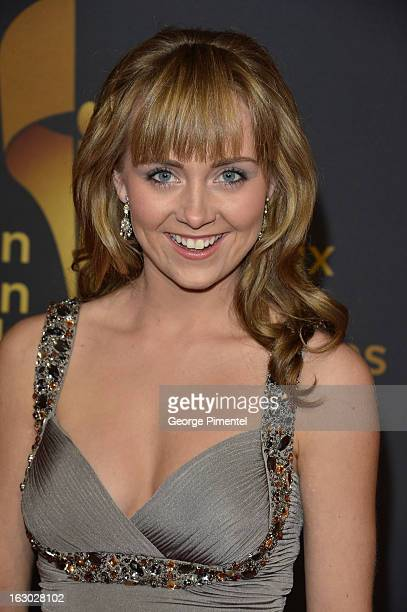 Actress Amber Marshall arrives at the Canadian Screen Awards at the Sony Centre for the Performing Arts on March 3 2013 in Toronto Canada