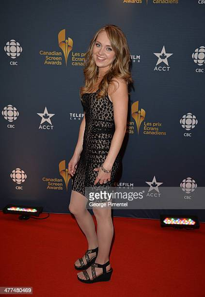 Actress Amber Marshall arrives at the Canadian Screen AwardsÊat Sony Centre for the Performing Arts on March 9 2014 in Toronto Canada