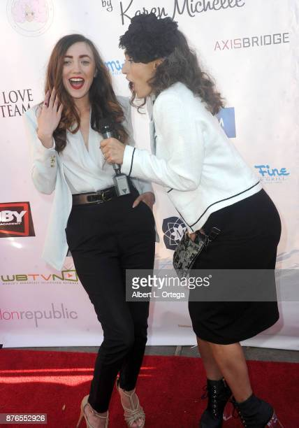 Actress Amber Martinez and actress Nataliyajoy Prieto at the Love Your Body Fashion Show And Shopping Event held at Luxe Sunset Boulevard Hotel on...