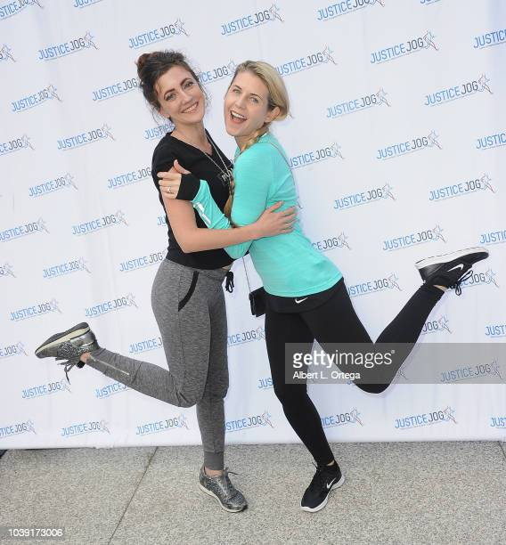 Actress Amber Martinez and actress/director Kathy Kolla attend the 11th Annual Justice Jog To Benefit Casa LA held on September 23 2018 in Century...