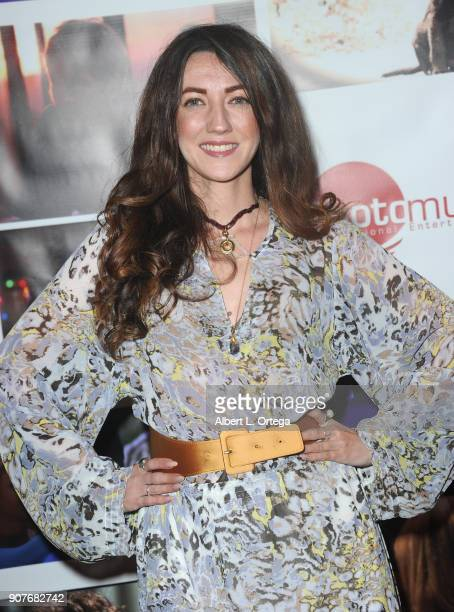 Actress Amber Martinez arrives for the Premiere Of 'Spreading Darkness' held at Ray Stark Family Theatre on January 19 2018 in Los Angeles California