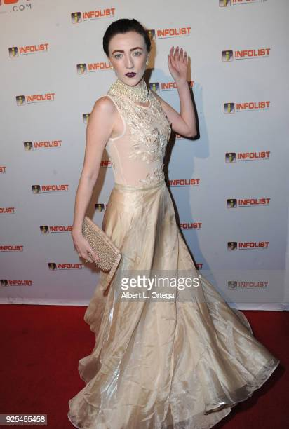 Actress Amber Martinez attends the INFOListcom's PreOscar Soiree and Jeff Gund Birthday Party held at Mondrian Sky Bar on February 27 2018 in West...