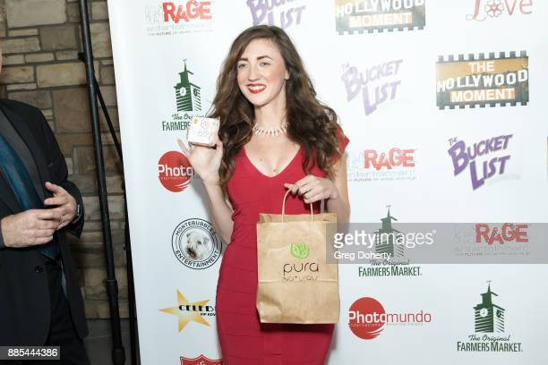 Actress Amber Martinez attends The Salvation Army Celebrity Kettle Kickoff Red Kettle Hollywood at the Original Farmers Market on November 30 2017 in...